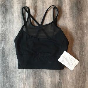 NWT size 2 clip in longline lululemon bra